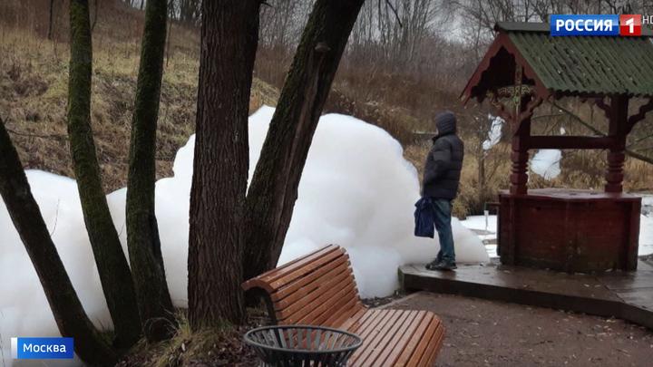 Пена в реке Раменке: пробы воды отправлены на экспертизу