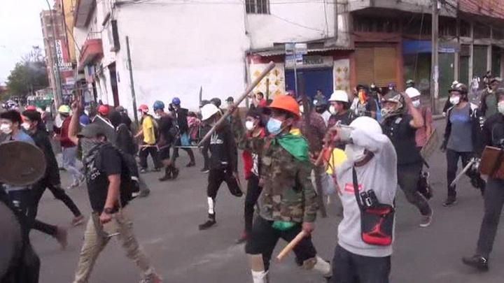 В Боливии продолжаются беспорядки