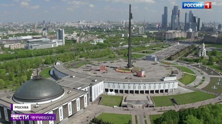 Днем и ночью идет капремонт в Парке Победы на Поклонной горе и у Музея Победы