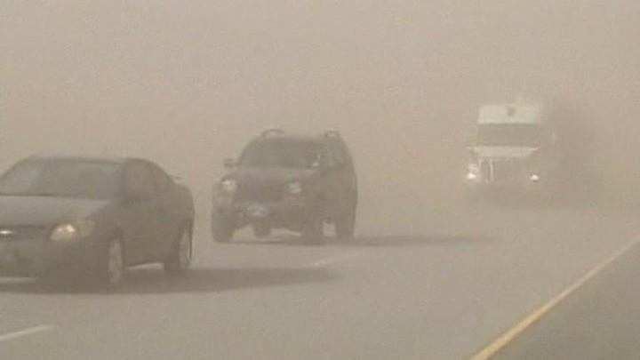 США. Оклахома. Песчаная буря