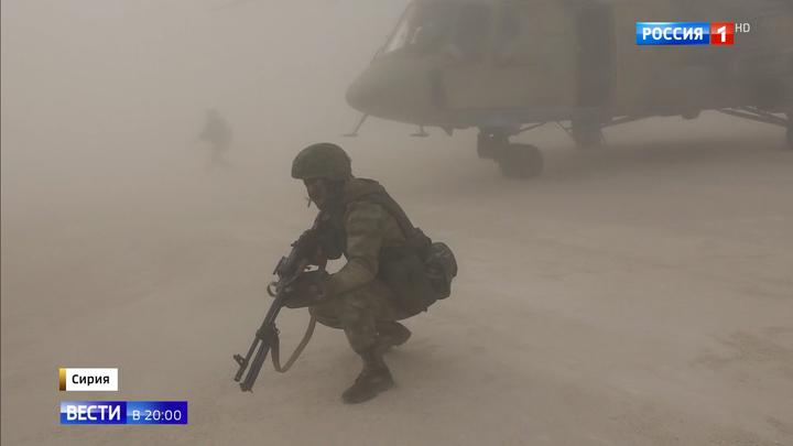 Российские военные взяли под контроль военный аэродром США в Сирии