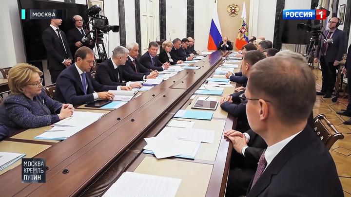 Путин отправил министров на прививки