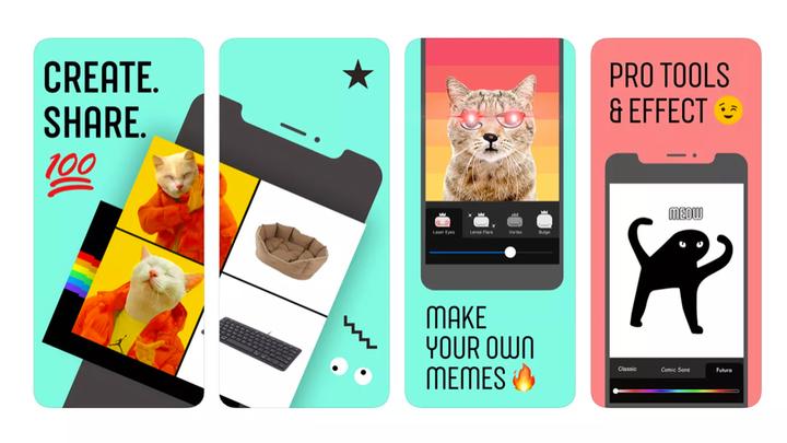 Facebook выпустил приложение для создания мемов