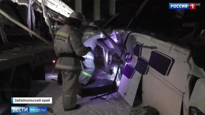 Трагедия в Забайкалье: автобус с пассажирами упал с 10 метров