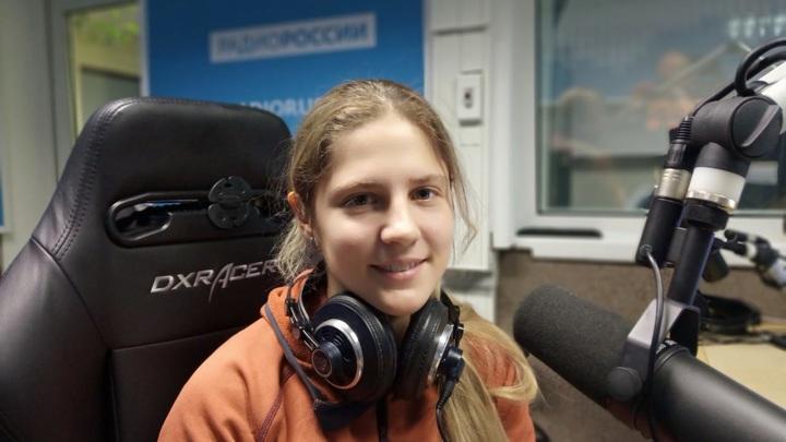 """Анна Груздева в студии """"Радио России"""""""