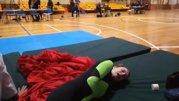 Российская гимнастка может остаться инвалидом из-за плохо организованных соревнований