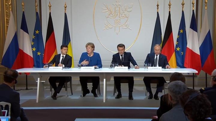 """Лидеры стран """"нормандской четверки"""" прокомментировали итоги саммита в Париже"""
