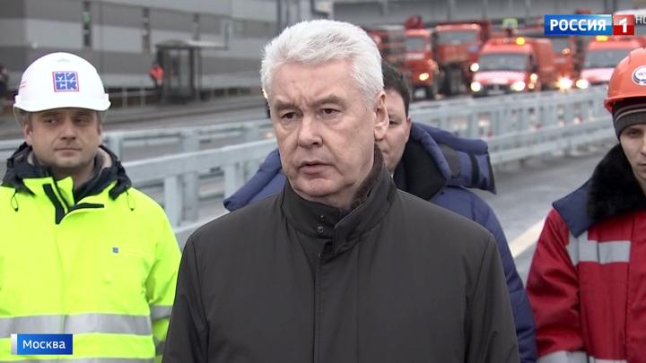 Собянин открыл движение по двум новым дорожным объектам на юге Москвы