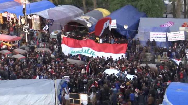 Стрельба по протестующим в центре Багдада: шесть человек погибли