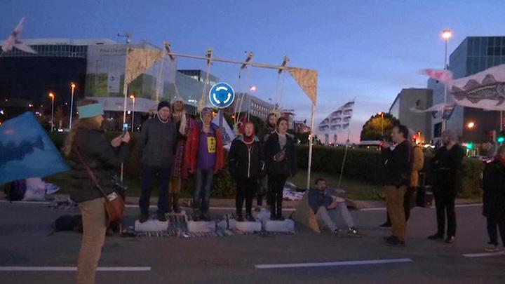 """Участников климатической конференции в Мадриде """"поприветствовали"""" кучей навоза"""