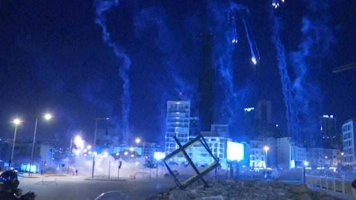 Протесты в Бейруте: более 50 пострадавших