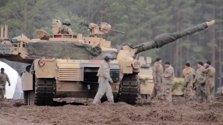 Танки НАТО постреляли у границ Белоруссии