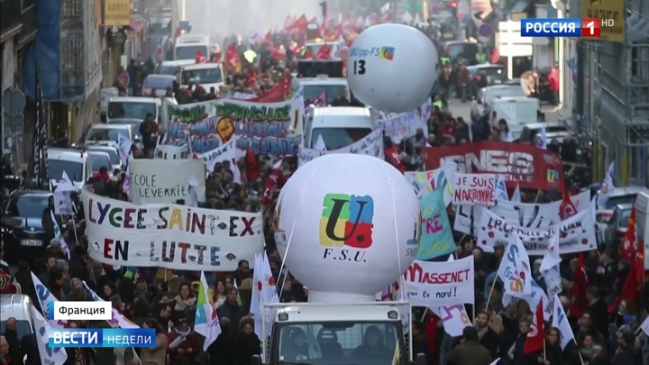 Протесты во Франции: бастуют все