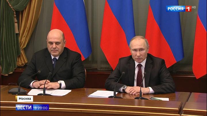 Путин утвердил девятерых заместителей Мишустина