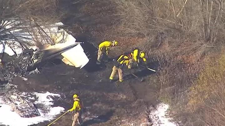 На юге Калифорнии разбился легкомоторный самолет