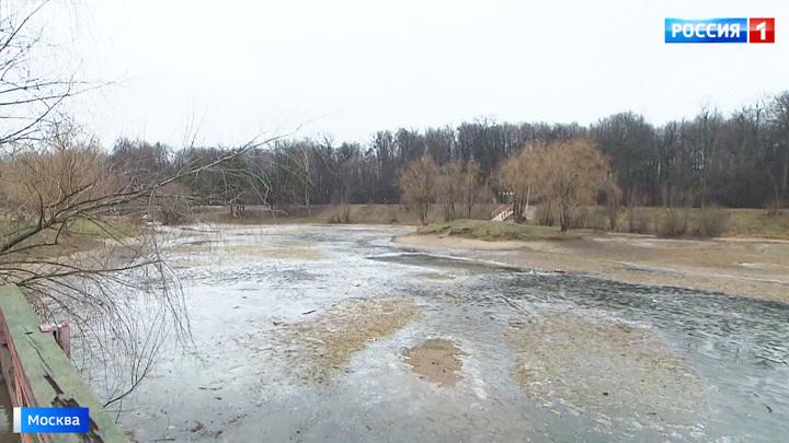 Аномальная погода привела к обмелению московских водоемов