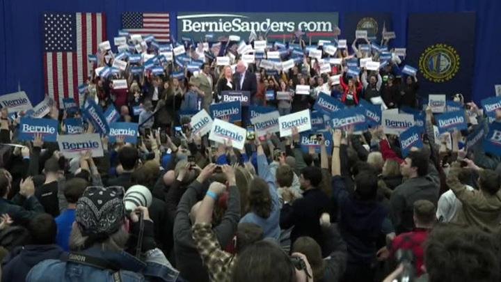 На праймериз демократов в Нью-Гэмпшире победил сенатор Берни Сандерс