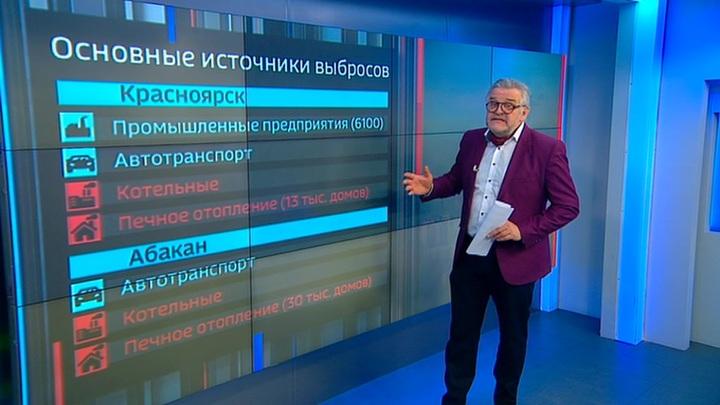 Смог в Сибири: жители Красноярска под балаклавами прячут респираторы