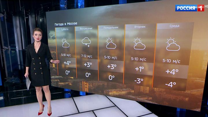В выходные в Москве ожидаются мокрый снег и дожди
