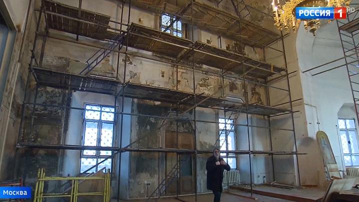 В столице начали реставрировать Храм святых апостолов Петра и Павла