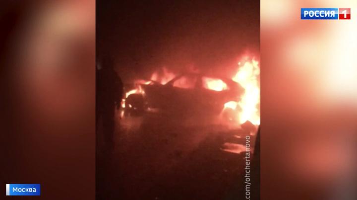 Огненное ДТП на юге Москвы: в тоннеле сгорела машина лихача