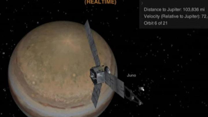 Зонд Juno впервые в истории пролетит над Юпитером