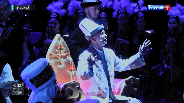 Путин и Жээнбеков на концерте в Государственном Кремлевском дворце: репортаж из-за кулис