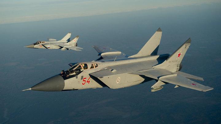 МиГ-31 сопроводил патрульный самолет ВВС Норвегии над Баренцевым морем