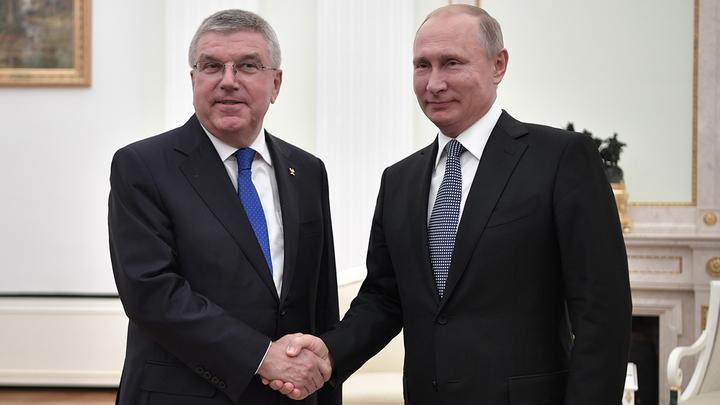 Путин поздравил президента МОК Баха с днем рождения