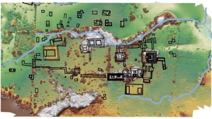 Карта места раскопок.