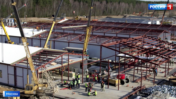 Первый блок готов: строительство больницы в Новой Москве идет рекордными темпами