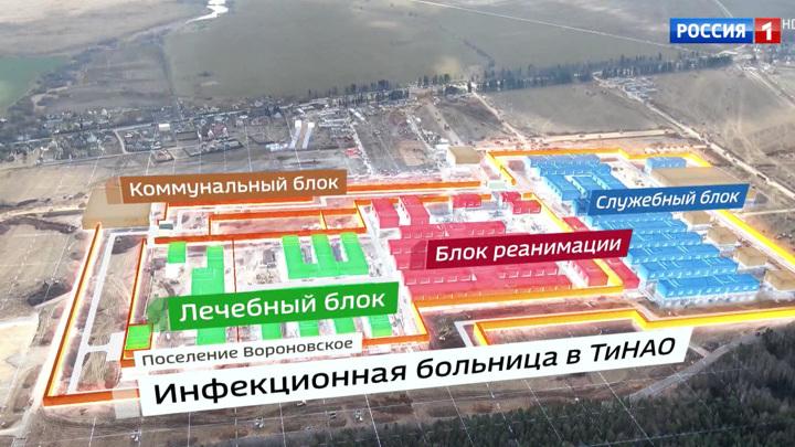 В Новой Москве начали монтаж корпусов новой инфекционной больницы