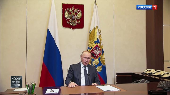 Москва. Кремль. Путин. Эфир от 29 марта 2020 года