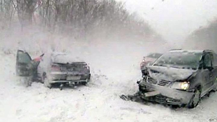Дания. Снежный шторм