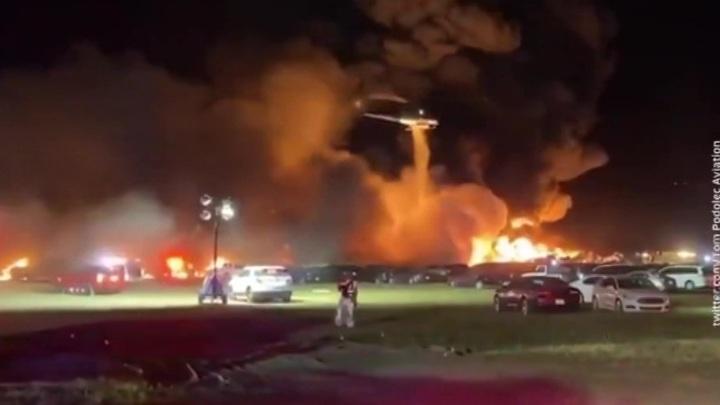 Взрывы у американского аэропорта: сгорели 3,5 тысячи машин