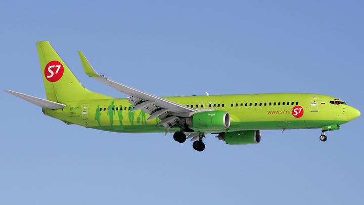 В Казани экстренно сел самолет компании S7, пассажир госпитализирован