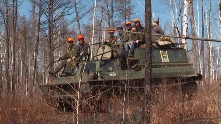 В Приамурье продолжают борьбу с лесными пожарами