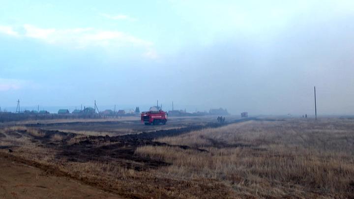 В Забайкалье 4 села спасли от пожара: дым от возгораний скрыл солнце