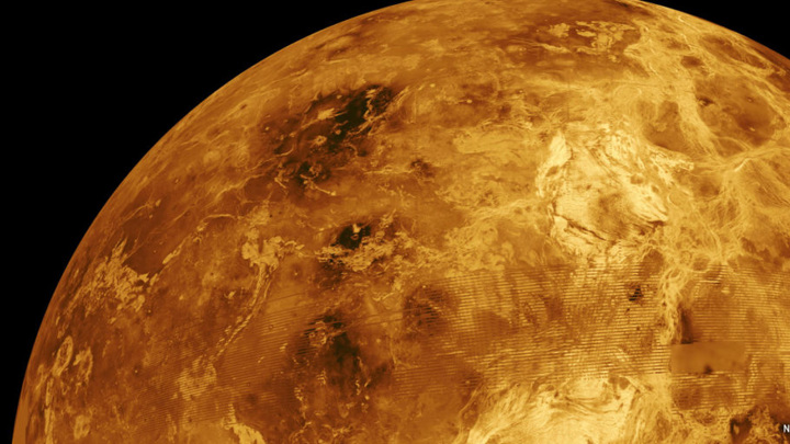 Атмосфера Венеры вращается в 60 раз быстрее её поверхности.
