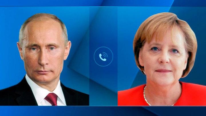 Путин и Меркель обсудили Украину, Сирию, Ливию и ситуацию с Навальным