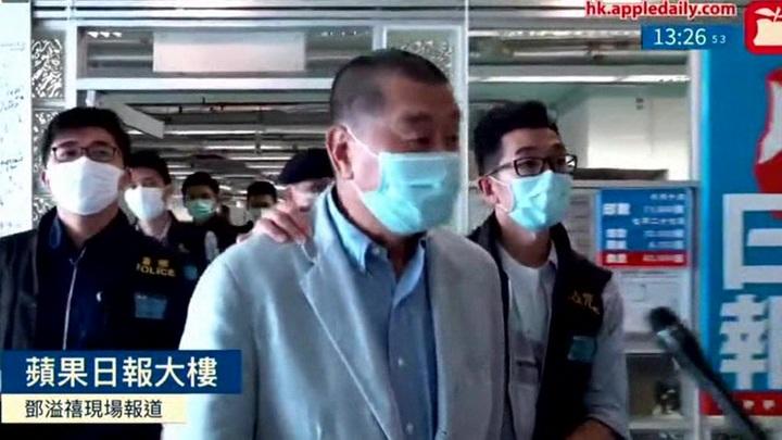 Задержанного в Гонконге медиамагната Джимми Лая освободили под залог