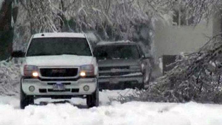 США. Сильный снегопад