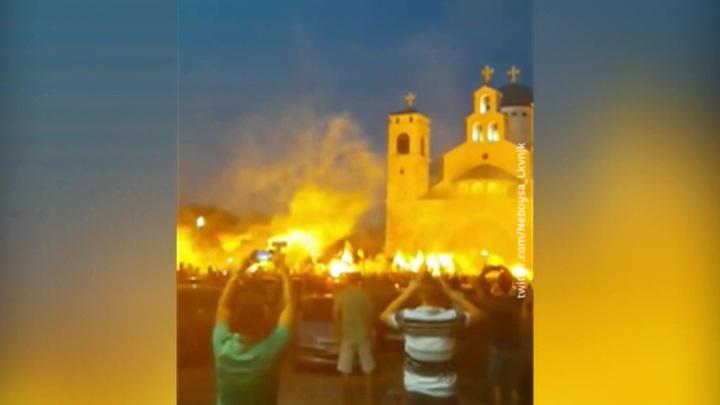 В Черногории прошли акции протеста православных верующих