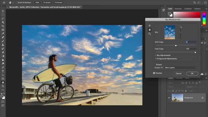 Новая функция замены неба Photoshop сымитирует идеальный закат