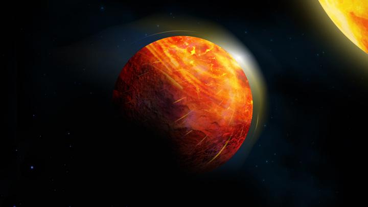 На планете K2-141b испаряются даже камни.