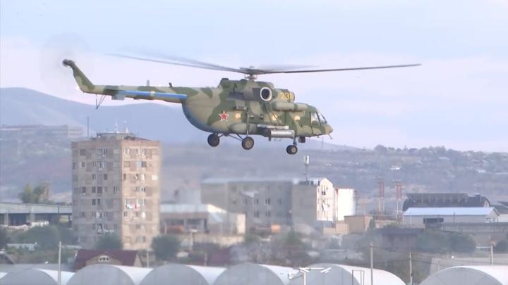 Российские боевые вертолеты обеспечат безопасность в Карабахе