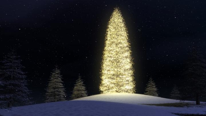 Дед Мороз зажег огни на первой новогодней елке в России с помощью дронов