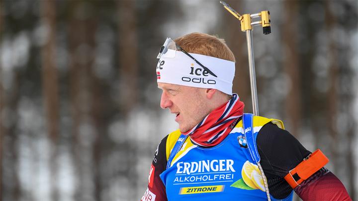 Йоханнес Бе стал первым в спринте на этапе Кубка мира по биатлону