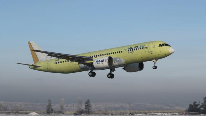 Самолет МС-21 с российскими двигателями сертифицируют в 2022 году