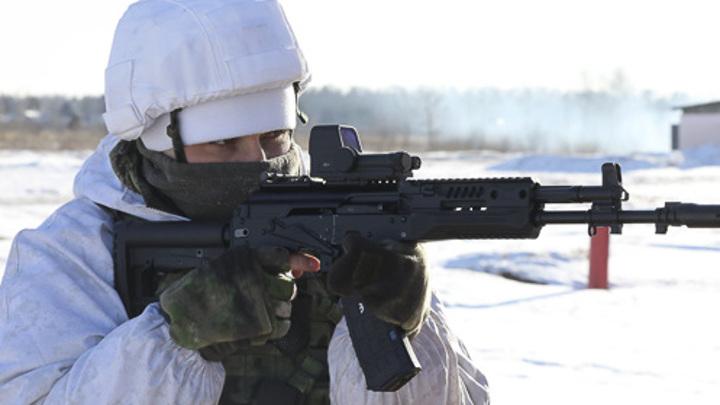 """Разведчики испытали новые """"Калашниковы"""" в 30-градусный мороз"""
